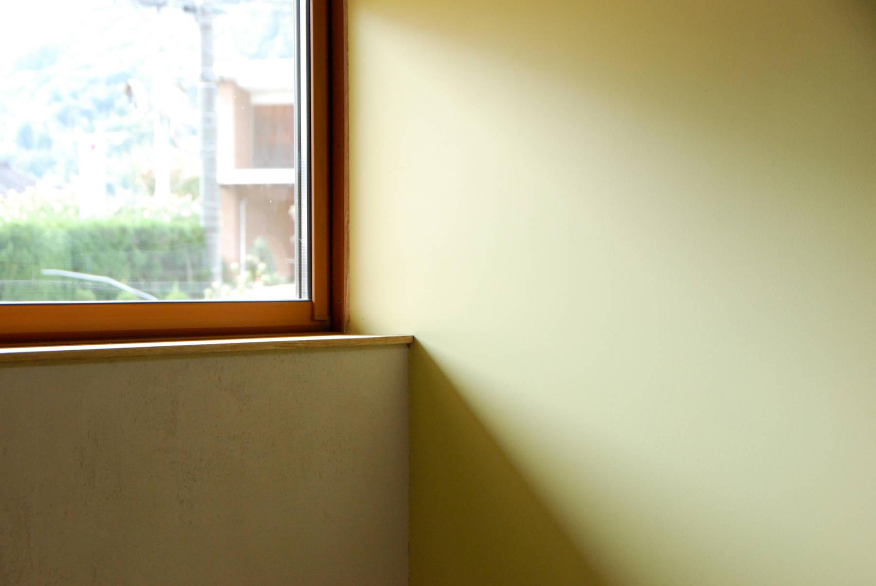Akaiwa K_House 薪ストーブとスキップフロアの平屋