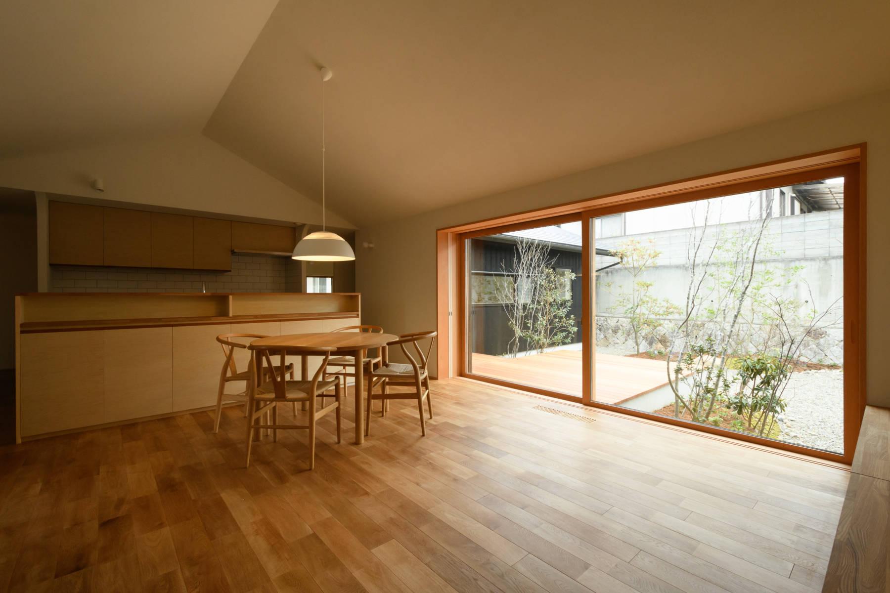 早島の家 大開口で仕切りのない空間の平屋